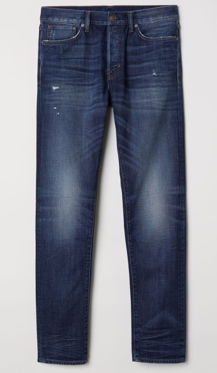 HandM slim straight blue