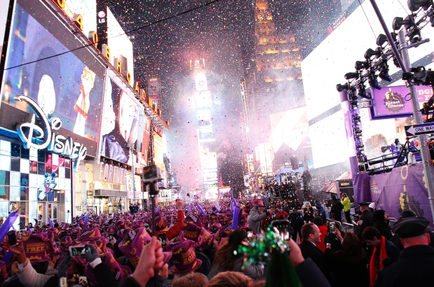 TOPSHOT-US-NEW YORK-NEW YEAR