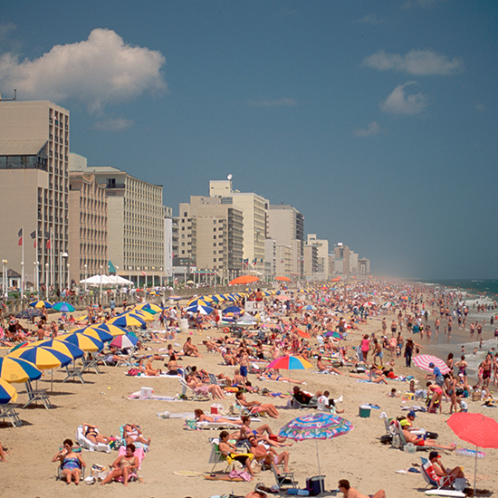 Crowded Virginia Beach